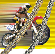 Motorcycle Chains (Gold O Ring Chains and Silver X Ring Chains)